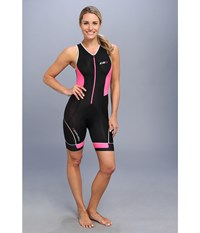 Louis Garneau Women Pro Suit Black Flash Pink Women's Cycling Bibs One Piece