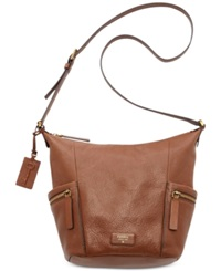 Fossil Emerson Leather Hobo Brown