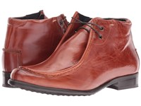 Messico Max Cognac Leather Men's Dress Flat Shoes Brown