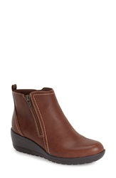 Softspots 'Carrigan' Waterproof Wedge Bootie Women Cognac Leather