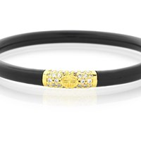 Budhagirl Black All Weather Bangles Gold