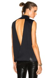 Dion Lee Loop Back Evening Sweater In Blue