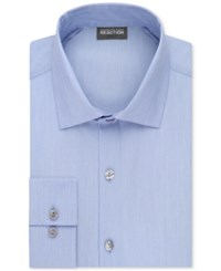 Kenneth Cole Reaction Men's Tall Slim Fit Techni Stretch Performance Dress Shirt Bluejay