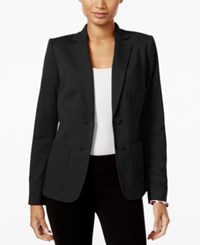 Tommy Hilfiger Two Button Ponte Blazer Black