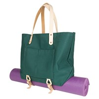 Mimot Studio Canvas Tote With Carrier Straps Green