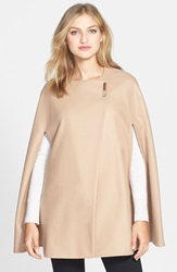 Ted Baker 'Minimalist' Wool Blend Cape Taupe
