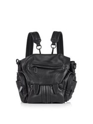 Alexander Wang Covered Zip Mini Marti Backpack Black