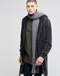 Asos Skinny Scarf In Charcoal Yarn Interest Charcoal Grey