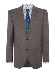 New And Lingwood Barnes Sb2 Birdseye Suit Jacket Grey
