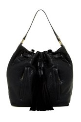 Ella Moss Sparrow Leather Bucket Bag Black