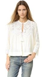 Sea Embroidered Top Cream