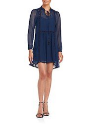 Romeo And Juliet Couture Long Sleeve Dress Navy