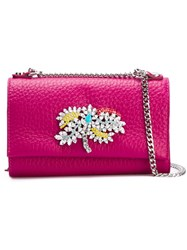 Orciani Embellished Crossbody Bag Pink And Purple