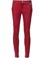 Rta 'Lucy' Leather Pants Red