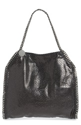 Stella Mccartney 'Small Falabella' Snake Embossed Tote 1000 Black