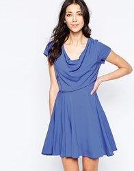Wal G Skater Dress With Drape Top Lilac Purple