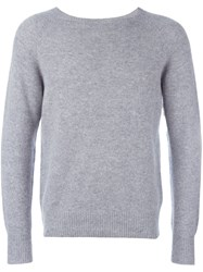Barena Bateau Neck Sweater Grey