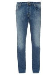 Jacob Cohen Tailored Stretch Denim Jeans Light Blue