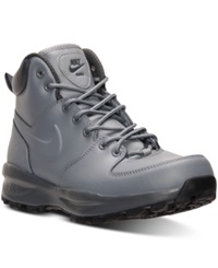 Nike Men's Manoa Leather Boots From Finish Line Cool Grey Dark Grey Anthr