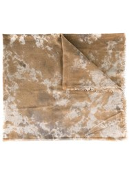Avant Toi Camouflage Print Scarf Nude Neutrals