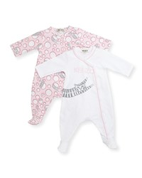 Kenzo Long Sleeve Footie Pajama Set Pink Size Newborn 9 Months Size 9 Months Light Pink
