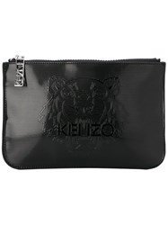 Kenzo Tiger Embossed Coin Purse Black