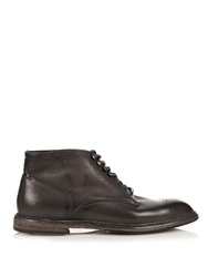 Dolce And Gabbana Distressed Leather Ankle Boots