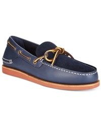 Tommy Hilfiger Men's Blythe Slip On Boat Shoes Men's Shoes Dark Blue