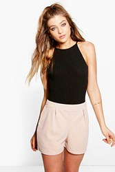 Boohoo Smart Casual Shorts Stone