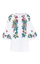 Zuhair Murad Flared Sleeve Shirt White