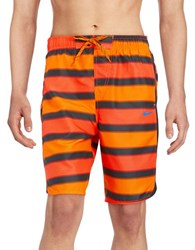 Nike Striped Volley Shorts Bright Red
