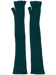 Maison Martin Margiela Long Fingerless Gloves Green