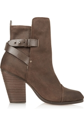 Rag And Bone Kinsey Distressed Leather Ankle Boots Brown