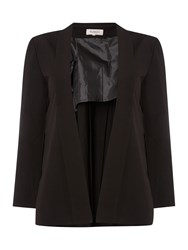 Soaked In Luxury Elegant Blazer Pleated On The Back Black