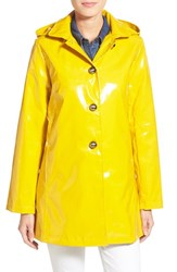Women's Jane Post 'Princess' Rain Slicker With Detachable Hood Yellow
