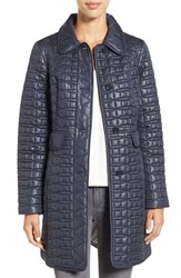 Kate Spade Women's New York Water Resistant Quilted Down Coat Deep Navy