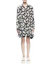 Stella Mccartney Lelia Horse Print Shirtdress Black