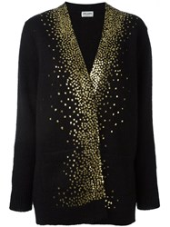 Saint Laurent Milky Way V Neck Cardigan Black