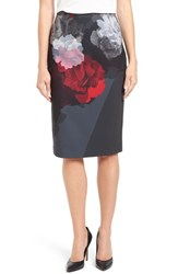 Ellen Tracy Women's Floral Front Pencil Skirt