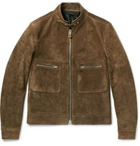 Tom Ford Slim Fit Suede Jacket Green
