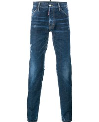 Dsquared Cool Guy Distressed Jeans Blue White Black