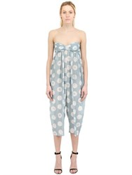 Marysia Polka Dot Cotton Silk Voile Jumpsuit