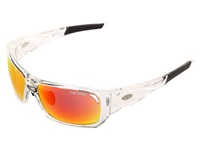 Tifosi Optics Duro Interchangeable Crystal Clear Smoke Red Smoke Bright Blue Clear Lens Sport Sunglasses Silver