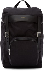 Saint Laurent Black Hunter Buckle Backpack