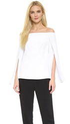 Kaufman Franco Long Sleeve Top White