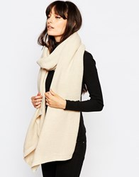 Pieces Ribbed Oversized Blanket Scarf Grey