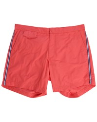 Hartford Red Side Stripes Swim Shorts