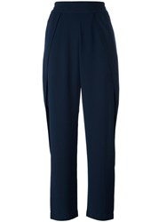 Jonathan Simkhai Side Trim Crepe Trousers Blue