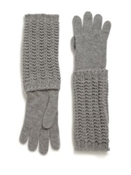 Moncler Long Knit Gloves Light Grey