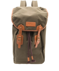 Barbour Olive Lachie Waxed Cotton Backpack